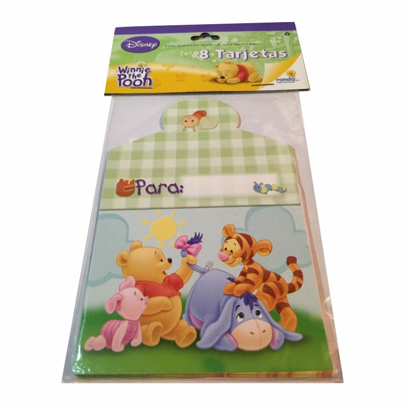 Invitaciones Winnie Pooh Bebes